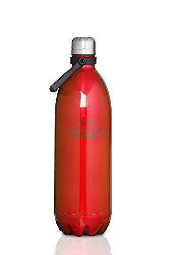 Atlasware Made in India Stainless Steel Hot and Cold Vacuum Bottle Red 1750ml