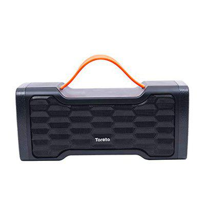 Toreto STORM-309, Portable Bluetooth Speaker with Rich Deep Bass and Water Resistant with Inbuilt Mic (TOR 309-Black)
