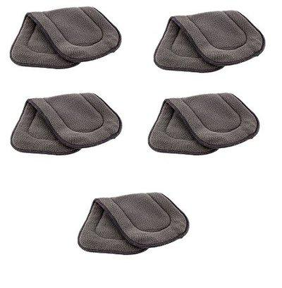 Kuhu Creations Washable 5 Layer Bamboo Charcoal, Reusable Cloth Diaper Inserts. (5 Pcs)