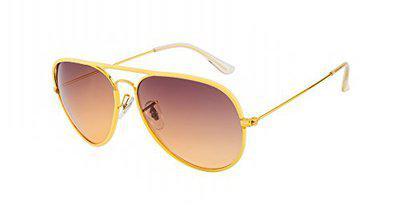 TED SMITH Gradient Aviator Unisex Sunglasses - (TS3026JM_C4|60|Brown Color Lens)