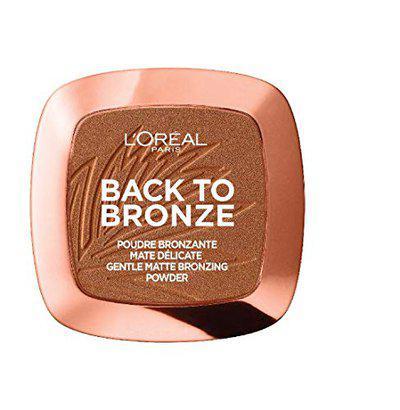 L'Oreal Paris Back to Bronze Matte Powder Bronzer, Sunkiss, 9g