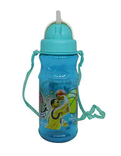 Majik Kids Water Bottle with Straw for School Home Use Perfect Sipper Bottle for Summer Holidays Picnic 30 Grams Sea Green Pack of 1