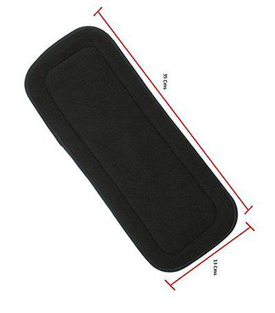 Kuhu Creations Washable Deep Thick 5 Layers Microfibre Reusable Cloth Insert Pad for UG/Nappy/Diaper (Graphite, 1 Unit)