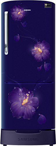 Samsung 192 L 3 Star Direct Cool Single Door Refrigerator(RR20N182ZU3/HL, RR20N282ZU3/NL, Rose Mallow Blue, Base Stand with Drawer, Inverter Compressor)