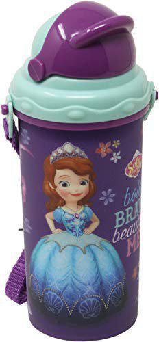 Disney Sofia 3D Lenticular Plastic Sipper Bottle, 400 ml, Multicolour