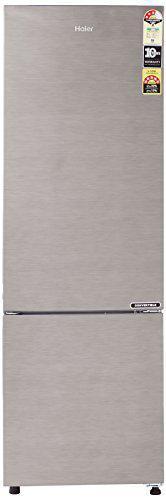 Haier 276 L 3 Star ( 2019 ) Frost Free Double Door Refrigerator(HEB-27TDS, Dazzle Steel/Brushline silver, Convertible, Bottom Freezer)
