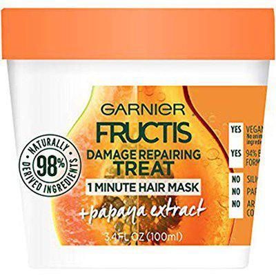 Garnier Fructis Damage Repairing 1 Minute Hair Mask, Papaya, 3.4 Fl. Oz. (Pack Of 2)