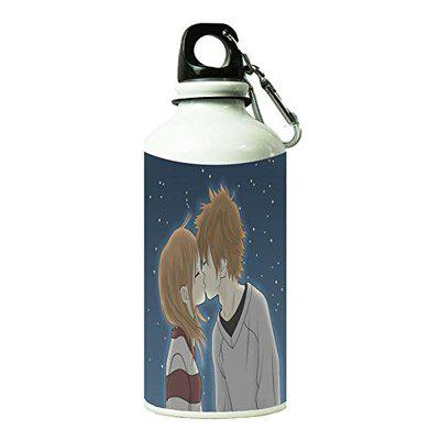 Shopbuzz Kiss On Soul Printed Water Bottle for Office, Gym, School, Travel,   Sipper for Kids and Adults