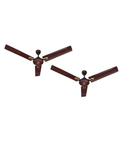 MinMax 48 Royal Delux A2 5 Star Pack of Two Double Ball Bearing Ceiling Fan-Brown