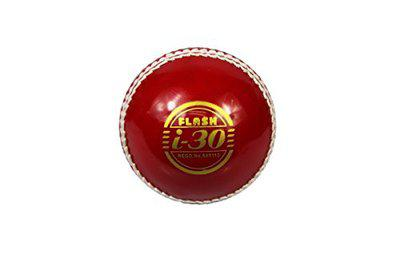 FLASH I-30 HALF RED AND HALF WHITE PREMIUM QUALITY SWING CRICKET BALL PACK OF 2