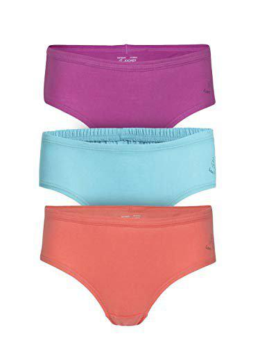 Jockey Girls' Regular Fit Plain Panty (Pack of 3)(SG01-0305_Assorted_6)(color may vary)