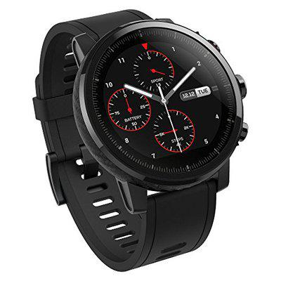 Amazfit Stratos Multisport Smartwatch with VO2max, All-day Heart Rate and Activity Tracking, GPS, Water Resistance, US Service and Warranty (A1619, Black)