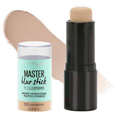 Maybelline Facestudio Master Blur Stick Primer Makeup, Light/Medium, 0.3 Oz.