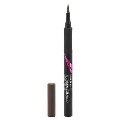 maybelline eyestudio master precise all day liquid eyeliner makeup, forest brown, 0.034 fl. oz.