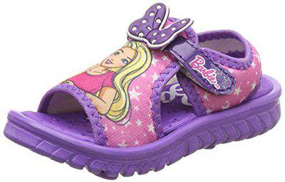 Barbie Girl's Purple Fashion Sandals-6 Kids UK/India (23 EU) (BBPGSS0257)