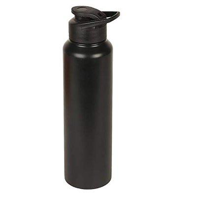 Not Available 201 grade Stainless Steel Chromo Plain Black Matt Finish Water Bottle Sipper-Shaker , BPA Free Leak Proof Multipurpose Ideal to store Water and Other Beverages for Gym , sports , Fridge , office , yoga , travel , School , college ( 1000 ml Set of 1 Black Colour )