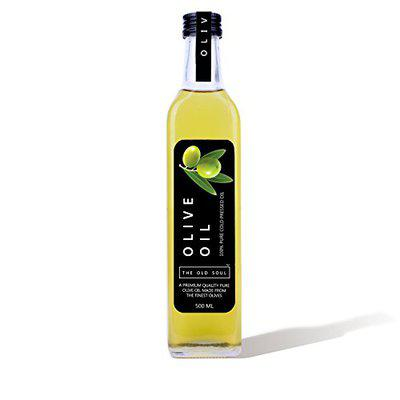 The Old Soul | 100% Pure Cold Pressed Olive Oil | Jaitun ka Tel | 500 ml | Glass Bottle
