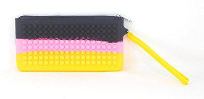 Oytra Rainbow Silicone Pencil Pouch for School Gift - 20 cm X 11 cm - Color Exactly Same as Picture