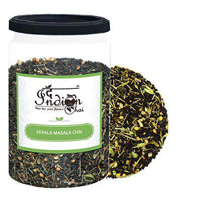 The Indian Chai - Kerala Masala Chai 250g with Cardamom, Ginger, Black Pepper, Nutmeg, Cinnamon, Peppermint Leaves, Lemongrass and Coriander Seed blended with Black Tea