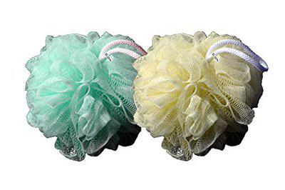 Cion Bath Sponge, loofah for bath (Green & Yellow)