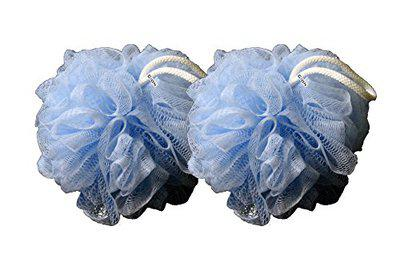 Cion Bath Sponge, loofah for bath (Blue, Pack of 2)