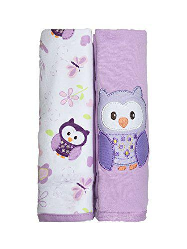 Kiwi Owl and Flower Patch 100 Cotton Swaddling Blankets - Pack of 2