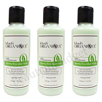 Khadi GreenTea Aloevera Hair Conditioner, 210ml (Pack of 3)