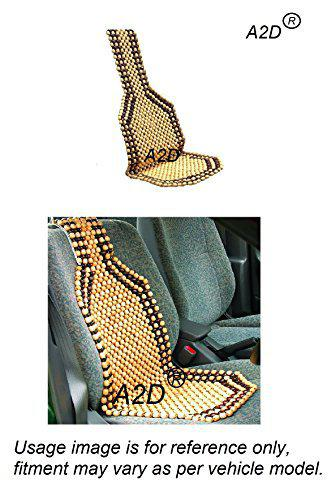 A2D Car Wooden Accupressure Design Bead Seat Cover, Seat Matt, Wooden Bead Seat Pad for Nissan X-Trail