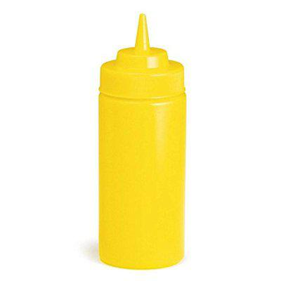 Andrew James Squeeze Bottles | top dispensers for Ketchup Mustard Mayo hot sauces Olive Oil - bpa Free BBQ Set (Color- Yellow, 450ML, Set of 3)