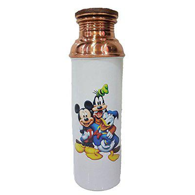 SARVSIDDHI Copper Digital Printed Mickey Mouse Water Bottles for Water 1 Liter