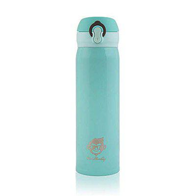 Cool Monkey Stainless Steel Thermos Bottle 500ml, Vacuum Flask Water Bottle (Blue)