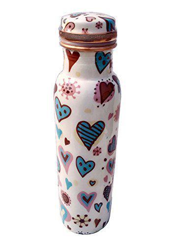 Heaven Decor Digital Printed Copper Heart Water Bottle (1000 ml)