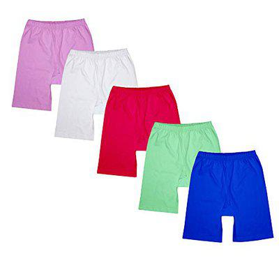 Luke and Lilly Girls Cycling Shorts - Pack of 5 (Multicoloured_ 18-24 Months) Blue