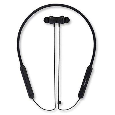 CrossBeats Vibe Silicon TPU Bluetooth Headset with Mic Neckband and Automatic Power ONOFF 8 Hrs Playtime for Mobile Phones Rich Black