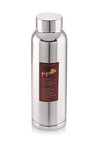 Pipal Product Llp 600ml Copper Water Bottle (Brown)