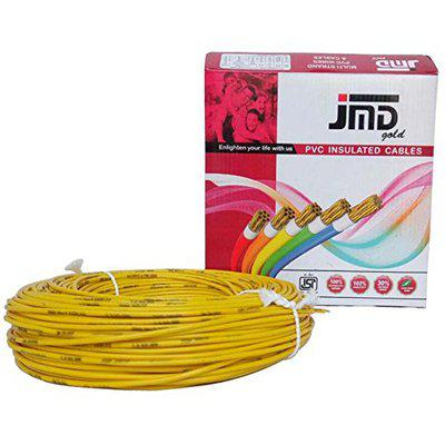 JMD GOLD PVC Insulated Copper Cables yellow color 1.0 Sq mm 90mtr. Length Wire