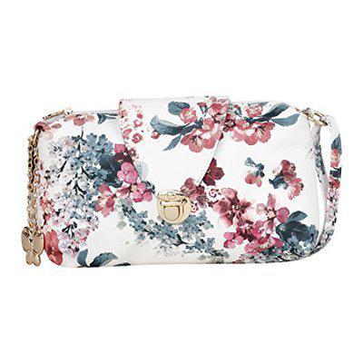 Butterflies Women Sling Bag (white) (bns 0685gy)