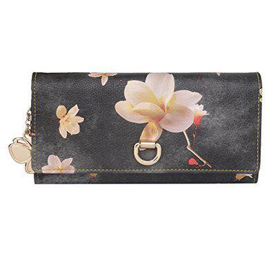 Butterflies Women Wallet (grey::pink) (bns 2425gy)