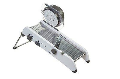 VDNSI Stainless Steel Professional Vegetable Grater Adjustable Mandoline Slicer Cutter with Holder used for Multi-Purpose, Multicolour