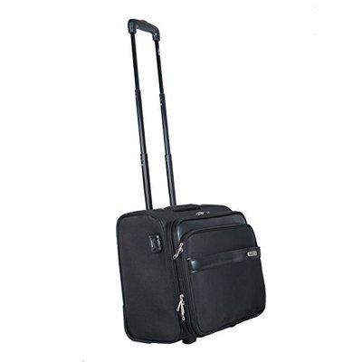 Safari Unisex Polyester Ballpark Laptop Black Trolley