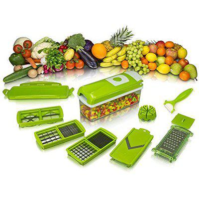 VDNSI Vegetable Dicer HGH Quality and Easy to Use Fruit & Vegetable Cutter - Chopper, Dicer,Grater, Slicer, All in One/Kitchen Tool/Kitchen Accessories/Utensils/Kitchen Gadget 11 in 1 Slicer