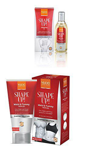 VLCC Shape Up Slimming Oil (100 ml) and Waist and Tummy Trim Gel Combo -100 g