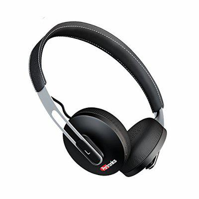 Portronics POR-894_Muffs L Wireless Bluetooth V4.1 Light Weight & Compact Design Headphone with Mic, Used to Enjoy The Music from Non-Bluetooth Devices Like TV, Some Laptops or PCs Using Aux Port