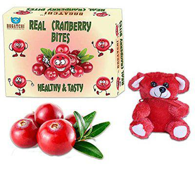 BOGATCHI Healthy Fruit Snacks for Kids - Real Sliced Cranberry Bites, Healthy and Tasty Real Sliced Cranberry (Dried), 200g, Free Surprise Toy