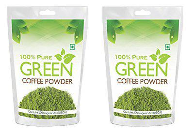 Health First 100% Pure Green Coffee Beans Powder - 200 g (Pack of 2)