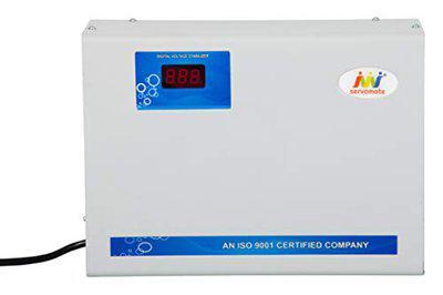 Servomate 4KVA (130v-280v) Automatic Voltage Stabilizer Suitable for Upto 1.5 ton AC with (200v-240v) Output Voltage, Aluminium