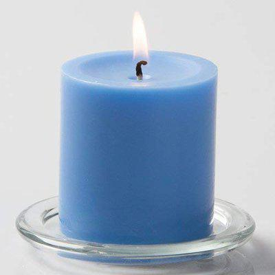 Ein Sof Scented 100 Pure Wax Pillar Candle, 3x3 inches Long Highly Fragranced Wax Pillar Candles (Sea Breeze)