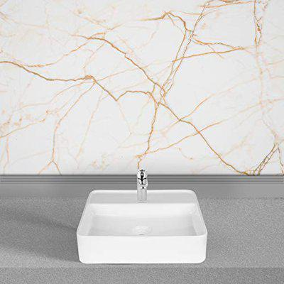 Hindware Edge 45S Table Top Wash Basin with Single Faucet Hole (Starwhite)