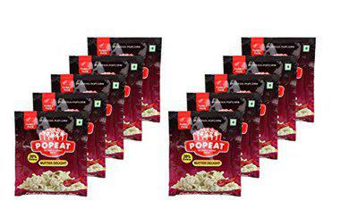 PopEat Butter Delight Instant Popcorn (Pack of 10 X 84 Grms)