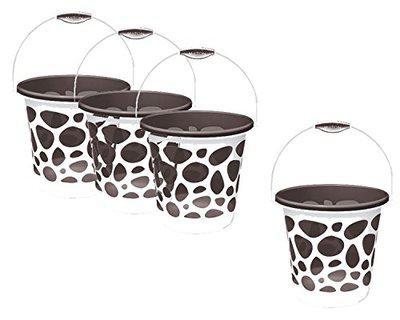 Milton Duplex Bucket, 25 LTR Set of 4, Grey